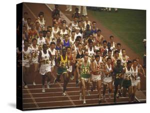 The Start of the 26 Mile Marathon at Summer Olympics