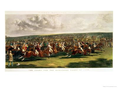 The Start of the Memorable Derby of 1844, Engraved by Charles Hunt-John Frederick Herring I-Giclee Print