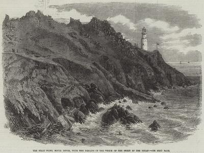 The Start Point, South Devon, with the Remains of the Wreck of the Spirit of the Ocean--Giclee Print
