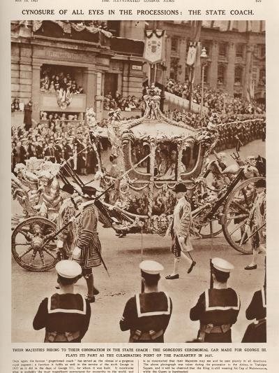 The State Coach on its Way to Westminster Abbey for the Coronation of King George VI--Photographic Print