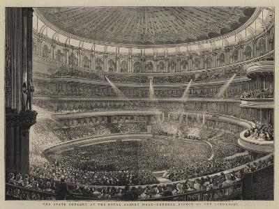 The State Concert at the Royal Albert Hall, General Effect of the Lime-Light--Giclee Print
