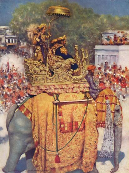 'The State Entry: A Distinguished Maharaja', 1903-Mortimer L Menpes-Giclee Print