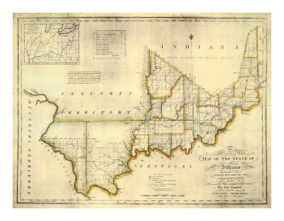 The State of Indiana, c.1817-W^ Shelton-Art Print