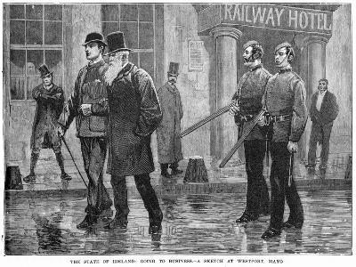 The State of Ireland: Going to Business - a Sketch at Westport, Mayo, 19th Century--Giclee Print