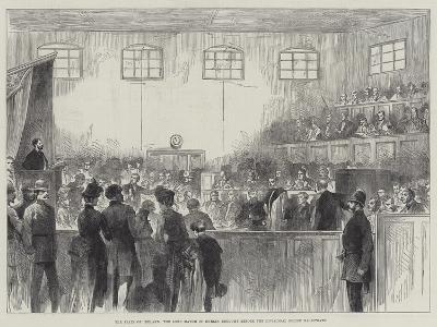 The State of Ireland, the Lord Mayor of Dublin Brought before the Divisional Police Magistrate--Giclee Print