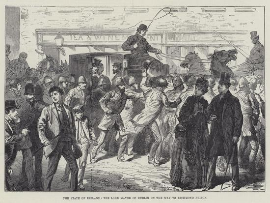 The State of Ireland, the Lord Mayor of Dublin on the Way to Richmond Prison--Giclee Print