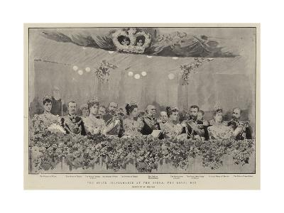 The State Performance at the Opera, the Royal Box--Giclee Print
