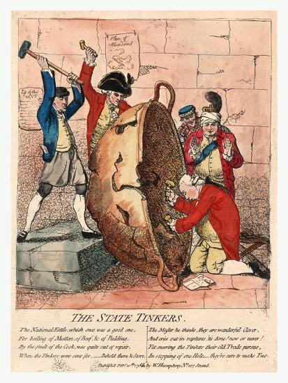 The State Tinkers-James Gillray-Giclee Print