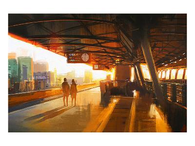 The Station Platform--Art Print