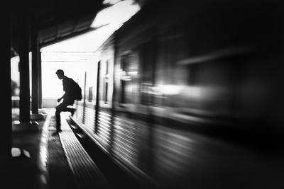The Station: Rush Arrival-Sebastian Kisworo-Photographic Print