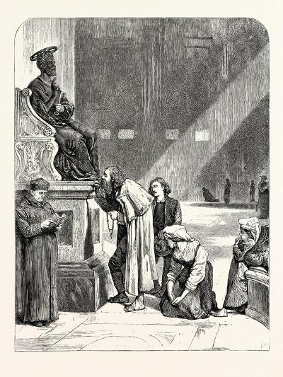 The Statue of St. Peter. Rome Italy--Giclee Print