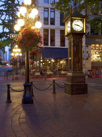 The Steam Clock, Water Street, Gastown, Vancouver, British Columbia, Canada, North America-Martin Child-Photographic Print