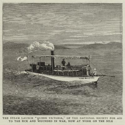 The Steam Launch Queen Victoria--Giclee Print