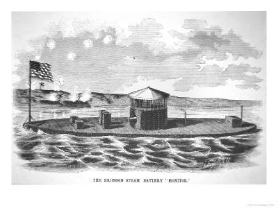 The Steam-Powered Ironclad USS Monitor, Designed by John Ericsson--Giclee Print