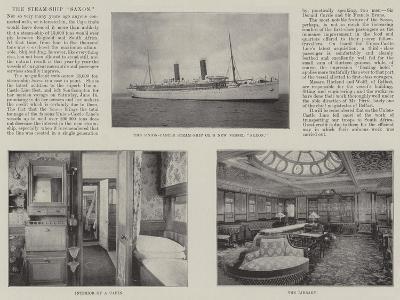 The Steam-Ship Saxon--Giclee Print