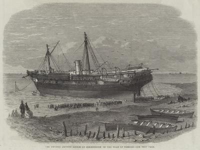 The Steamer Amphion Ashore at Sherringham, on the Coast of Norfolk--Giclee Print