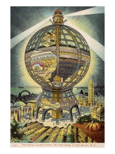 The Steel Globe Tower, 700 Feet High, on Coney Island, New York, America--Giclee Print