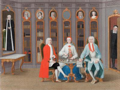 The Stenbock family in Their Library at Rånäs, c.1740-Carl Fredrik Svan-Giclee Print