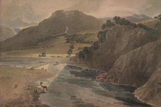 'The stepping stones on the Wharfe, above Bolton Abbey, Yorkshire', 1801-Thomas Girtin-Giclee Print