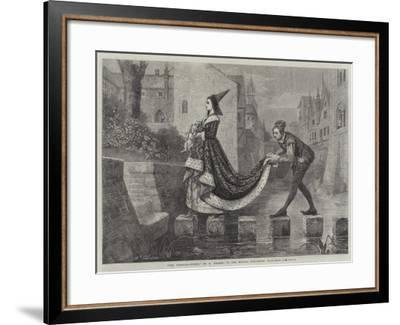 The Stepping-Stones--Framed Giclee Print