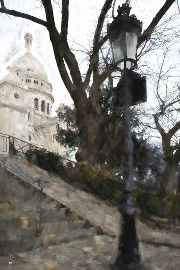 The steps of the Basilica in Montmartre-Philippe Hugonnard-Giclee Print