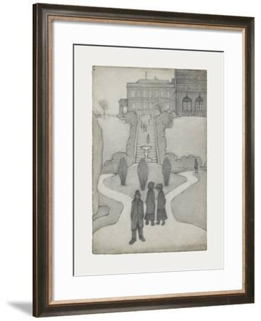 The Steps, Peel Park, Salford, 1930-Laurence Stephen Lowry-Framed Premium Giclee Print