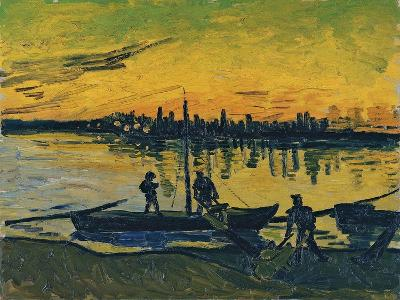 The Stevedores in Arles, 1888-Vincent van Gogh-Giclee Print