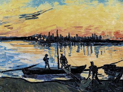 The Stevedores in Arles-Vincent van Gogh-Art Print