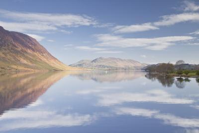 The Still Waters of Crummock Water in the Lake District National Park-Julian Elliott-Photographic Print