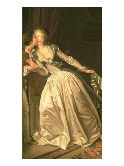 The Stolen Kiss, C.1788-Jean-Honor? Fragonard-Giclee Print