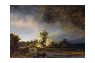 The Stone Bridge-Rembrandt van Rijn-Giclee Print