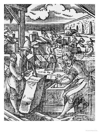The Stone-Cutter-Jost Amman-Giclee Print