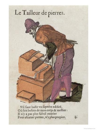 The Stone-Cutter-Jean Leclerc-Giclee Print