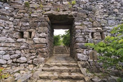 The Stone Entrance to Nakijin Castle, a 14th Century Castle in Okinawa, Japan-Paul Dymond-Photographic Print