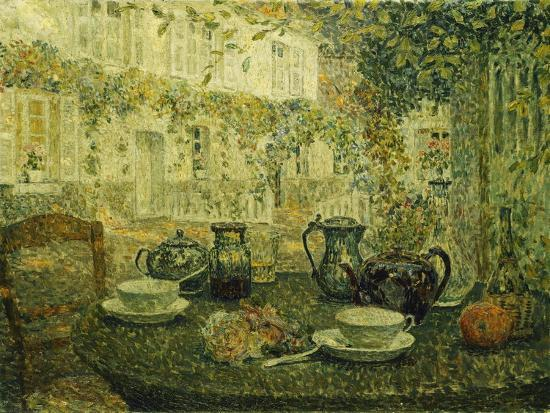 The Stone Table; Le Table De Pierre, 1919-Henri Eugene Augustin Le Sidaner-Giclee Print