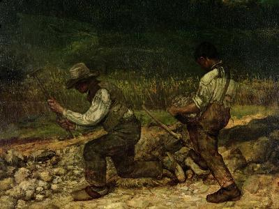 The Stonebreakers (Oil)-Gustave Courbet-Giclee Print