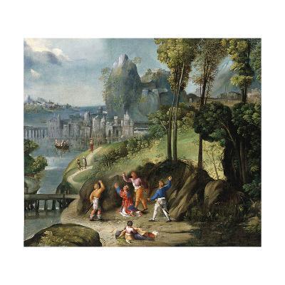 The Stoning of Saint Stephen-Battista Dossi-Giclee Print