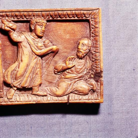 The Stoning of St Paul, Ivory Panel from Casket, Rome, late 4th century-Unknown-Giclee Print
