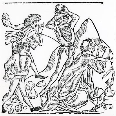 The Stoning of St. Stephen--Giclee Print