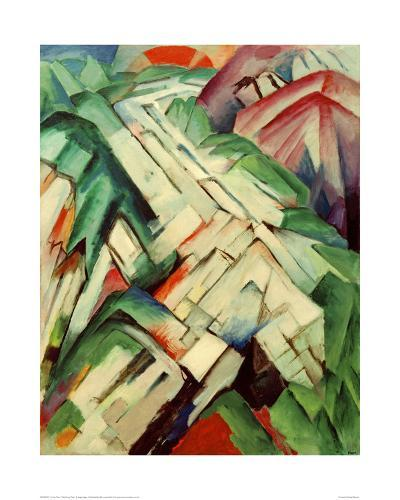The Stony Path-Franz Marc-Giclee Print