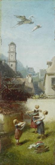 The Stork, ca. 1884/85-Carl Spitzweg-Giclee Print