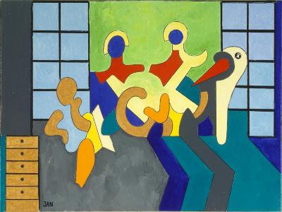 The Stork Is the Witness, 2009-Jan Groneberg-Giclee Print