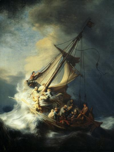 The Storm on the Sea of Galilee-Rembrandt van Rijn-Giclee Print