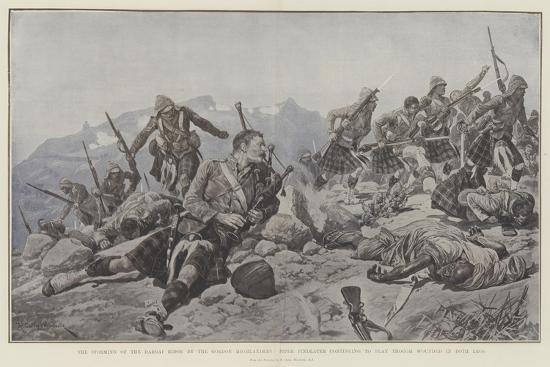 The Storming of the Dargai Ridge by the Gordon Highlanders-Richard Caton Woodville II-Giclee Print