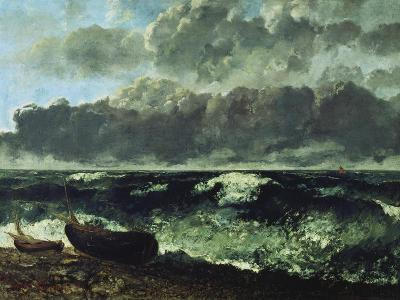 The Stormy Sea or the Wave, 1870-Gustave Courbet-Giclee Print