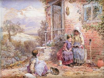 The Story Book-Myles Birket Foster-Giclee Print