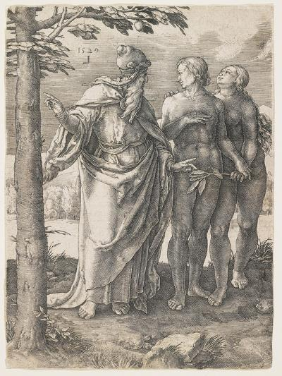 The Story of Adam and Eve: the First Prohibition, 1529-Lucas van Leyden-Giclee Print