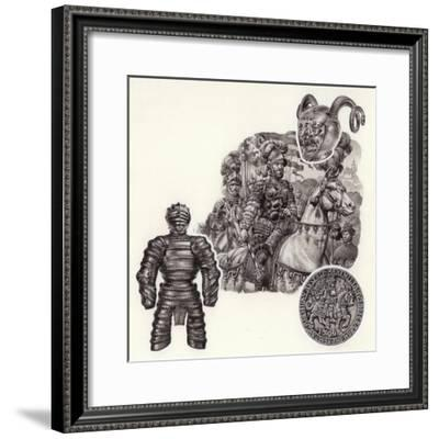The Story of Armour-Pat Nicolle-Framed Giclee Print
