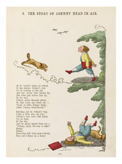 The Story of Johnny Head-In- Air Johhny Collides with a Dog--Giclee Print