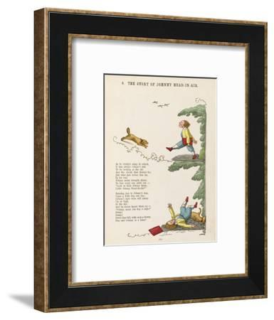 The Story of Johnny Head-In- Air Johhny Collides with a Dog--Framed Giclee Print